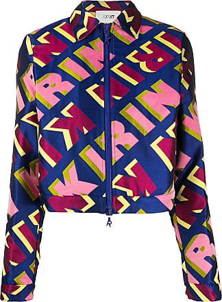 Kirin all-over logo jacket - Blue