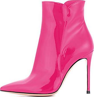 0e9d40b52413 EDEFS Damen Kurzschaft Stiefel mit fur,Stiefeletten mit Absatz in Rose,High  Heel Winter