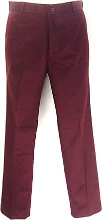 Relco Classic Retro mod sta Press Trousers (32, Burgundy)