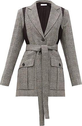 J.W.Anderson Single-breasted Prince Of Wales Wool-blend Blazer - Womens - Grey
