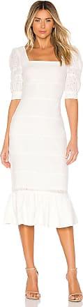 NBD Tori Midi Dress in White