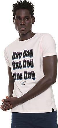 Doc Dog Camiseta Doc Dog Manga Curta Lettering Rosa