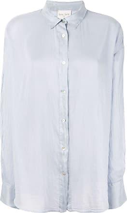 Forte_Forte Camisa com efeito amassado - Azul