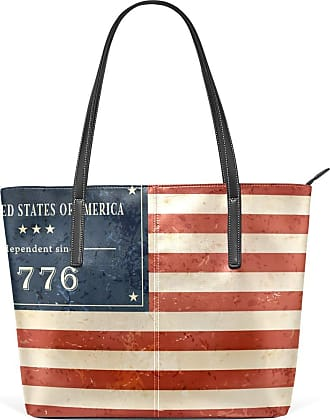 NaiiaN for Women Girls Ladies Student Handbags Leather Independence Day 4Th Of July Tote Bag Light Weight Strap Mount Purse Shopping Shoulder Bags
