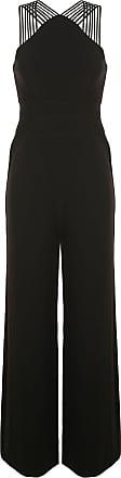 Halston Heritage straight fit jumpsuit - Preto