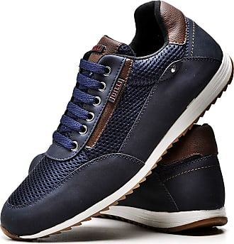 Juilli Sapatênis Sapato Casual Masculino Com Cadarço JUILLI R1100DB Tamanho:38;cor:Azul;gênero:Masculino