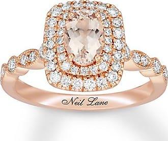 Neil Lane Morganite Engagement Ring 5/8 ct tw Diamonds 14K Gold