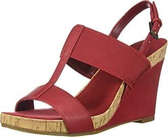 Aerosoles Womens Plush Behind Wedge Sandal, RED, 8.5 M US