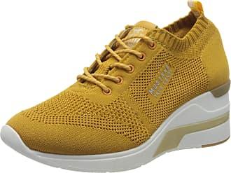Mustang Womens 1303-304-6 Low-Top Sneakers, Yellow (Gelb 6), 8 UK