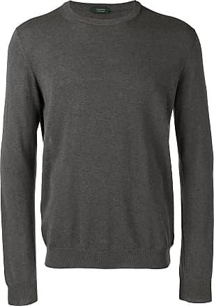Zanone knitted crewneck jumper - Grey