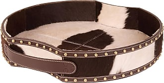 Dimond Home ELK Home Holstein Pony Tray in Dark Brown and Cream