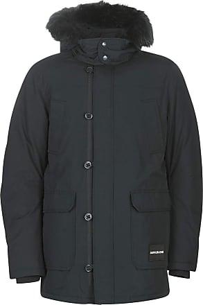 Calvin Klein Jeans Fur Trimmed Hooded Down Parka Coats Men Black - M - Parkas Outerwear