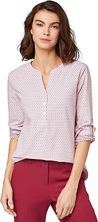 Tom Tailor Womens Struktur Blouse, Pink (Rose White Structure 19084), 12 (Size: 38)