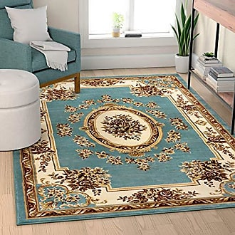 Well Woven 36366 Timeless Le Petit Palais Traditional Medallion Light Blue Area Rug 67 x 93