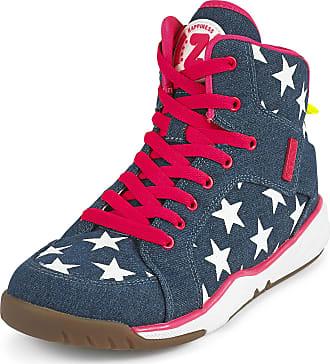 Zumba Energy Boom High Top Athletic Shoes Dance Training Workout Women Shoes, Denim Dream, 2.5 UK