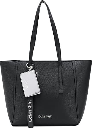 CALVIN KLEIN 205W39NYC zipper large tote bag - Black
