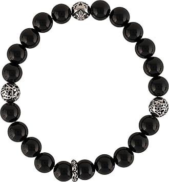 Nialaya engraved beaded bracelet - Black