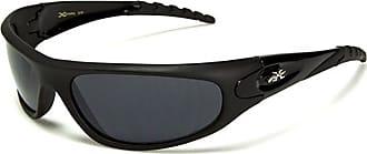 X Loop Unisex Sports Wrap Sunglasses PANTHER Model UV400 100% Protection (mat black frame grey lens)