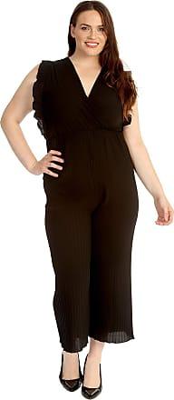 Nouvelle Collection Frill Sleeves V Neck Jumpsuit Black 16