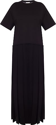 The Row Maja Pleated Dress Womens Black