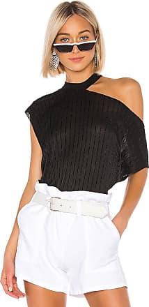 Rta Axel Velvet Striped Top in Black