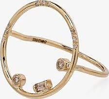 Xiao Wang Womens 14k Yellow Gold Gravity Circle Diamond Ring
