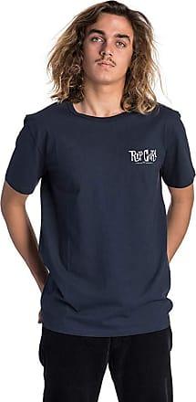 Rip Curl Cartoon Short Sleeve T-Shirt in Dark Blue (Large)