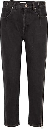 3.1 Phillip Lim Zip-embellished High-rise Tapered Jeans - Black
