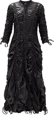 Norma Kamali Zelda Parachute Ruched Technical-shell Dress - Womens - Black