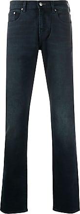 Paul Smith Calça jeans reta com cintura média - Azul