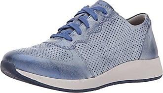 Dansko Womens Christina Sneaker, Blue Metallice Brush Off Off, 36 M EU (5.5-6 US)