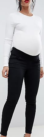 Asos Maternity ASOS DESIGN Maternity Ridley high waisted skinny jeans in clean black with under the bump waistband