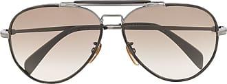 David Beckham Óculos de sol aviador polido - Marrom