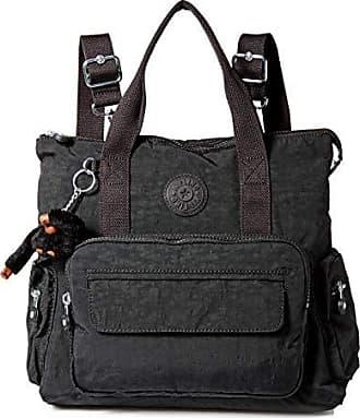 Kipling Womens Alvy 2-in-1 Convertible Tote Bag Backpack, Wear 2 Ways, Zip Closure, Black Tonal
