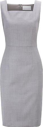 BOSS Regular-fit shift dress in Italian wool