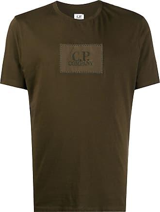 C.P. Company Camiseta com logo bordado - Verde