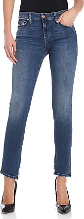 7 For All Mankind Blue Pyper crop jeans