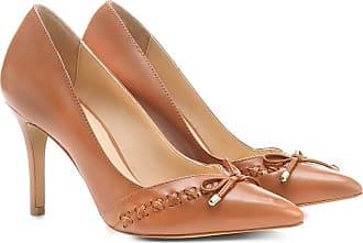 2decb03d7a Shoestock Scarpin Couro Shoestock Salto Alto Trançado - Feminino