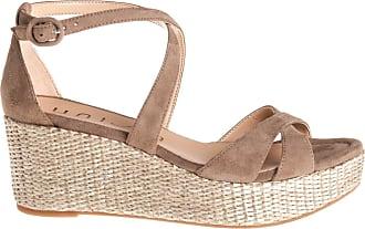 Unisa sandalo zeppa, 37 / marrone