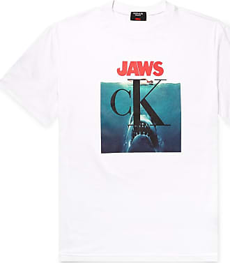CALVIN KLEIN 205W39NYC Jaws Printed Cotton-jersey T-shirt - White