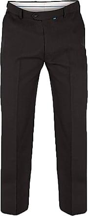 Duke London D555 Max Mens Adjustable Waist Trousers - 54 Inch Waist Regular Leg - Black