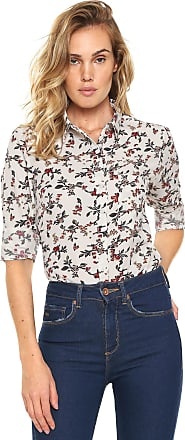 Facinelli by MOONCITY Camisa Facinelli by MOONCITY Floral Branca
