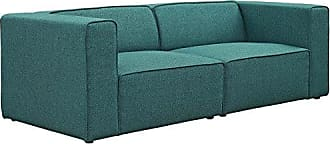 ModWay Modway Mingle Contemporary Modern 2-Piece Sectional Sofa Set in Teal