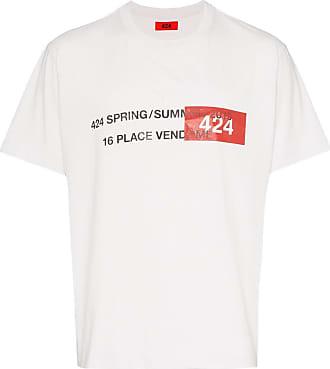424 T-Shirt mit Adressen-Print - Weiß