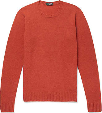Incotex Brushed Virgin Wool Sweater - Orange