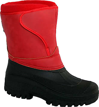 Groundwork New Ladies Horse Riding Yard Waterproof Stable Walking RAIN Snow Winter SKI Warm Farm Mucker Boots RED 5
