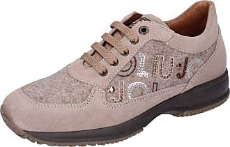 Liu Jo Baby-Girls Suede Beige Fashion-Sneakers 2 UK Child