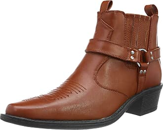 US Brass Mens Eastwood Cowboy Ankle Boots (12 UK) (Black)