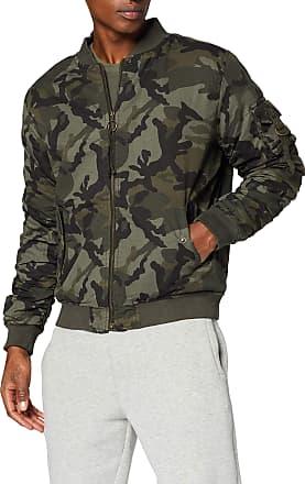 Urban Classics Mens Vintage Cotton Bomber Jacket, Multicoloured (Wood camo 396), XXL