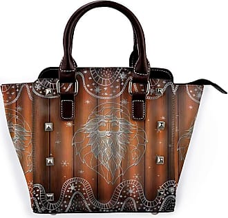 Browncin Santa Clauss Snowflakes Wooden Planks Christmas Detachable Fashion Trend Ladies Handbag Shoulder Bag Messenger Bags